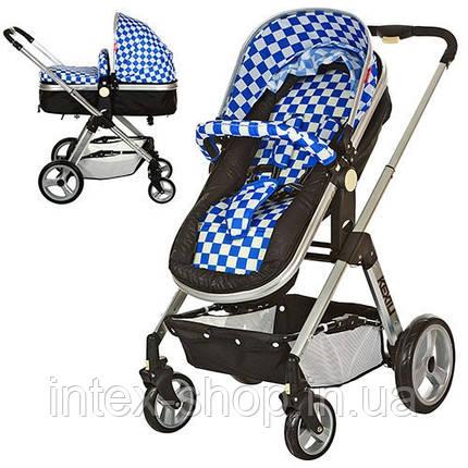 Детская коляска 6811-4 универсальная (синяя), фото 2