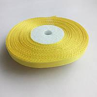 Лента атласная жёлтая 0,6 см