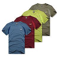 Модные стильные мужские футболки Jack Wolfskin. Не линяет при стирке. Хорошее качество. Дешево. Код: КГ806