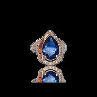 Серебряное кольцо ФИЕСТА 925 пробы с накладками золота 375 пробы.Серебряное кольцо с золотой пластиной
