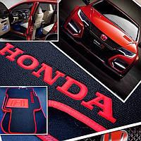 Автомобильные текстильные ковры Honda Accord 2003-2007 Fortuna чёрн гель. флок (5шт/комп)