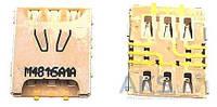 (Коннектор) Aksline Разъем SIM-карты Samsung G850F Galaxy Alpha Original