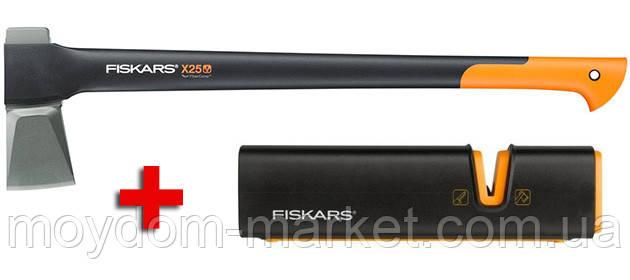 Сокира-колун Х25 2430гр. +точилка 120740 /Fiskars