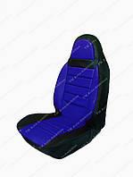 Чехлы на сидения универсальные - из кожвинила Pilot синие