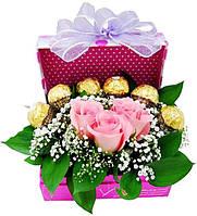 """Подарок на 8 Марта! Композиция из конфет и цветов """"Только ты"""""""