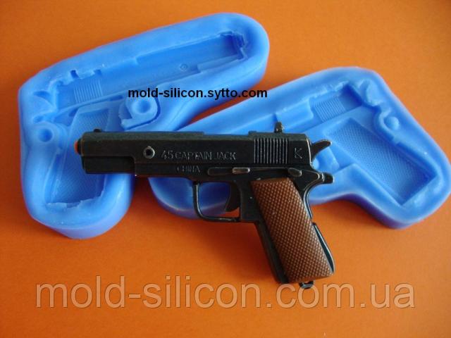 """Силиконовый молд 3Д """"Пистолет"""""""
