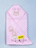 """Демисезонный конверт-одеяло для новорожденных """"Мишутка"""" розовый, фото 2"""