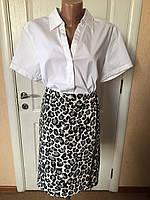 Рубашка женская  белая короткий рукав  S.Oliver