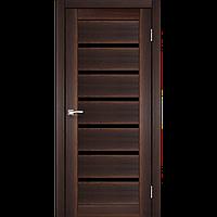 """Дверь PORTO DeLuxe  PD-01. Со стеклом """"черный"""",""""бронза""""(орех,дуб беленый,венге,дуб грей,дуб марсала). KORFAD"""