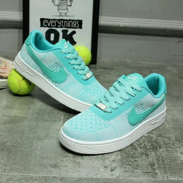 Кроссовки Nike Air Force One Low Turquoise Бирюзовые женские