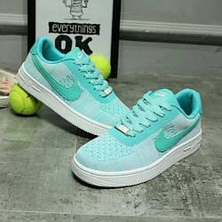 Кроссовки Nike Air Force One Low Turquoise Бирюзовые женские