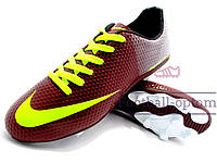 Бутсы Nike Mercurial\ Найк Меркуриал, Вьетнам, бордовые, к11340