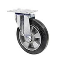 """Колесо поворотное """"Norma"""" с крепёжной панелью,диаметр-160мм"""
