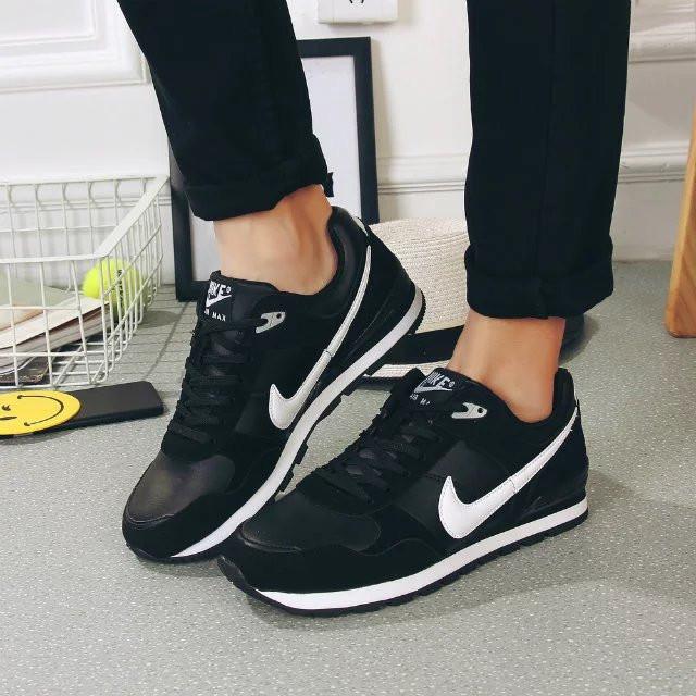 Кроссовки Nike Air Black White Черные мужские реплика