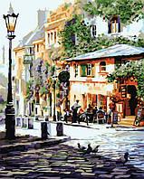 """Рисование по цифрам Идейка """"Италия. Летнее кафе"""" худ. МакНейл Ричард (KH2150) 40 х 50 см"""