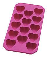 """Силиконовая форма """"Сердечки"""" для шоколада и льда 22х11 см"""