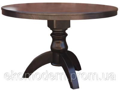 Стол деревянный ЛЕО + (80 см) на одной ноге (круглый, квадратный) для дома, кафе и ресторана