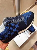 Сникеры Louis Vuitton RUN AWAY LV sneakers синий цвет