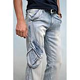 Джинсы мужские голубые с ремнем MURRO MEN лето, фото 2