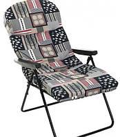 Садовый шезлонг с матрасом, складное кресло с матрасом