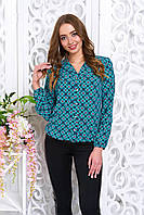 Молодежная свободная блузка в кружочек