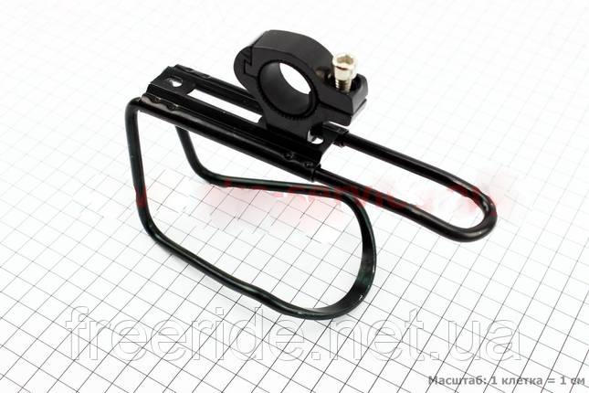 Флягодержатель с креплением на руль алюминиевый (черный), фото 2