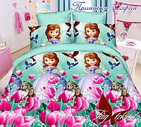 Комплект постельного белья детский, полуторное, дизайн София прекрасная недорого!