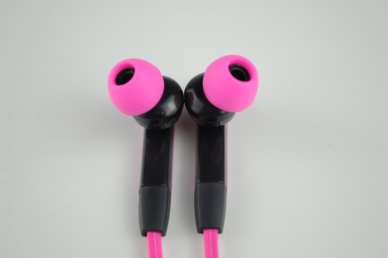 Наушники вакуумные M3 с микрофоном розовые