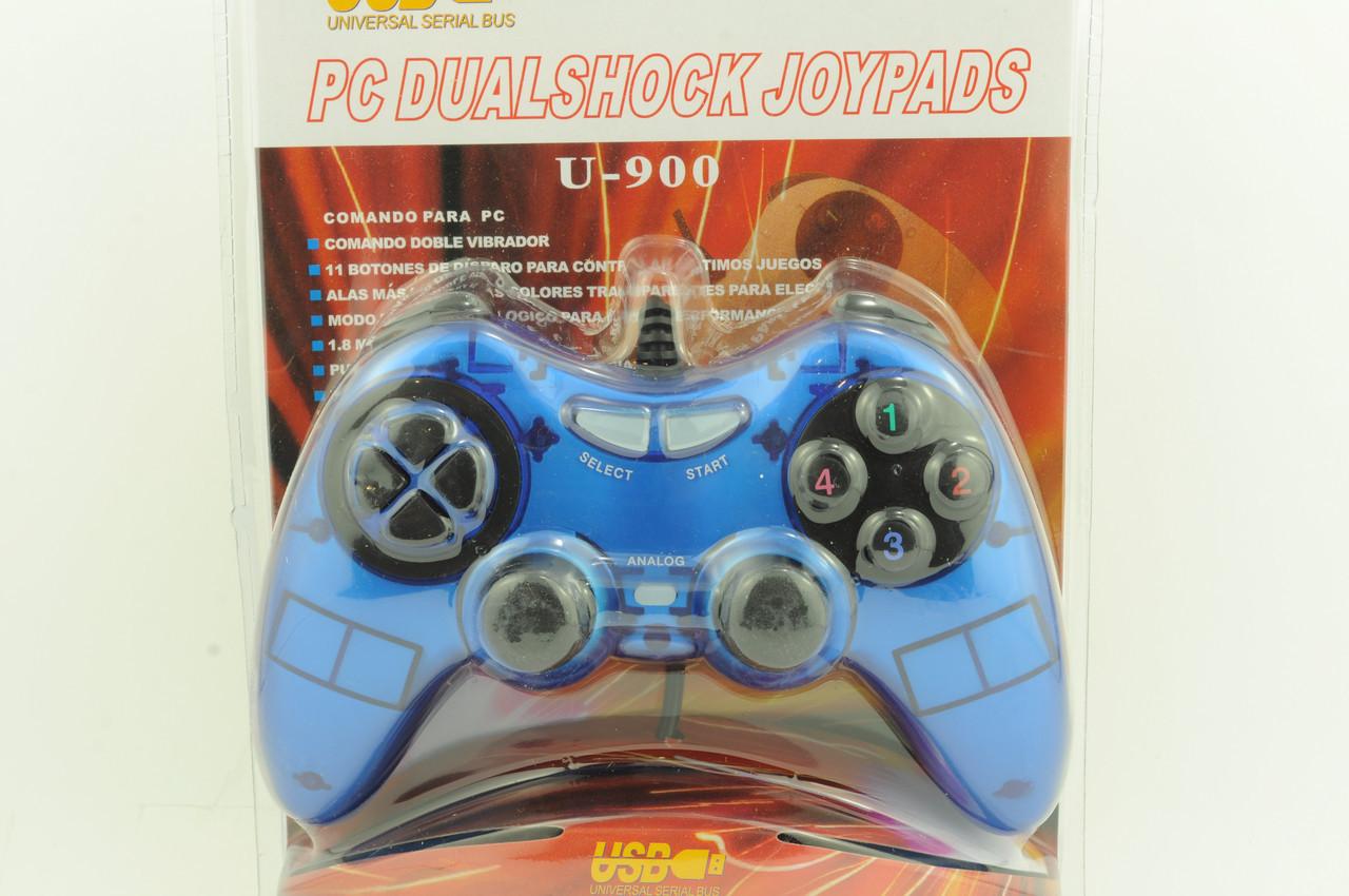 Джойстик PC проводной U-900 синий