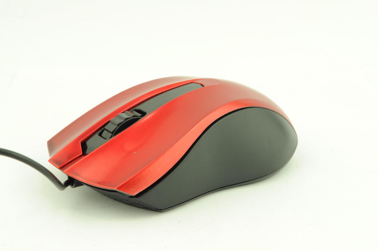 Мышка компьютерная проводная Z026 красная