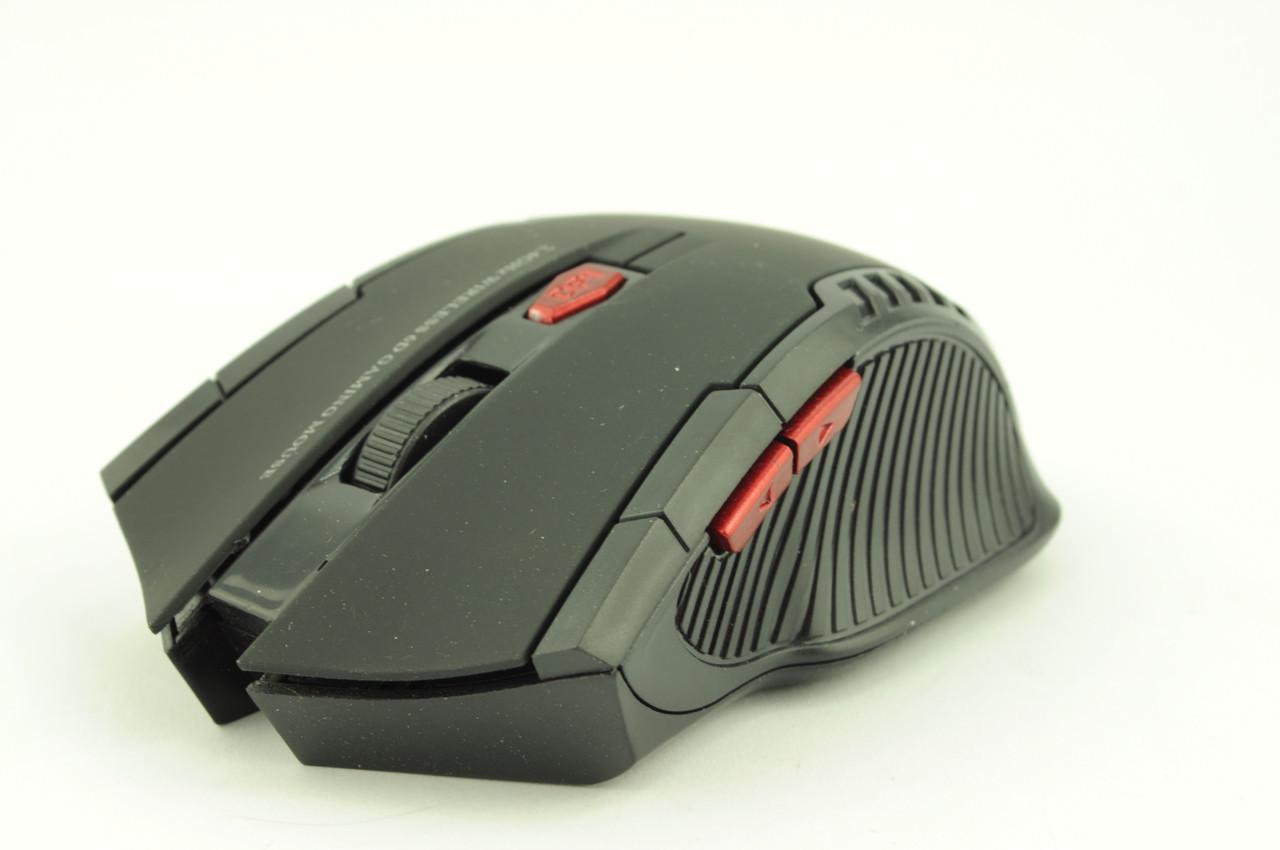 Мышка компьютерная беспроводная + радио 529 W4 черная