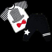 Детский летний костюм р. 92-98 для мальчика тонкий ткань КУЛИР 100% хлопок 3485 Белый