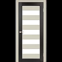 Дверь PORTO Сombi Color PC-04. Исполнение: со стеклом сатин. KORFAD