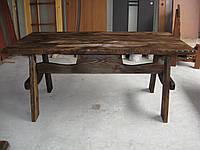 Стол деревянный садовый  Волна 3м, фото 1
