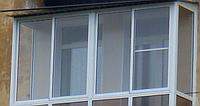 Раздвижная система из холодного алюминя на лоджию разм 3,1м ширины на 1,6м высоты -4 части