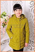 Красивые детские куртки «Оливия», олива