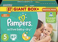 Подгузники Pampers Active Baby-Dry Размер 5 (Junior) 11-18 кг 87 шт.