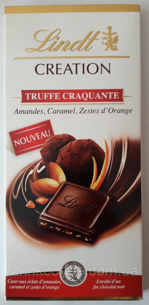 """Шоколад черный Lindt """"Truffe Craquante, Amandes, Caramel, Zestes d`Orange"""", 150 г"""