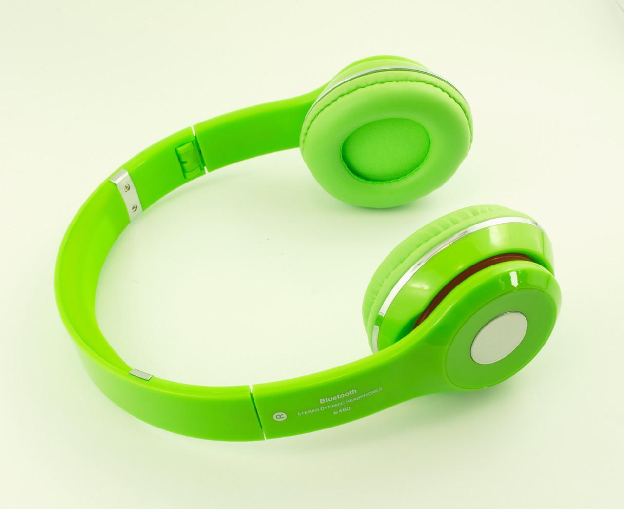 Наушники беспроводные bluetooth S460 зеленый