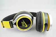 Наушники проводные NK198 NIKE (в коробке) черный\желтый, фото 1