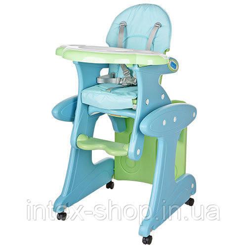 Детский стульчик-трансформер Bambi ГОЛУБОЙ (M 3267-4) со столиком