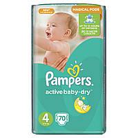 Подгузники Pampers Active Baby-Dry Размер 4 (Maxi) 8-14 кг 70 шт.
