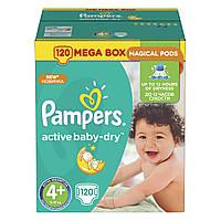 Подгузники Pampers Active Baby-Dry Размер 4+ (Maxi+) 9-16 кг 120 шт.