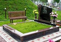 Самая недорогая искусственная трава вокруг надгробья 5мм.