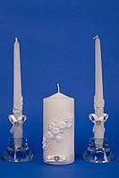 Набор свадебных свечей Семейный очаг айвори