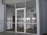 Алюминиевые входные двери (холодный бюджетный алюминий) разм 900*2100, стеклопакет 1 кам