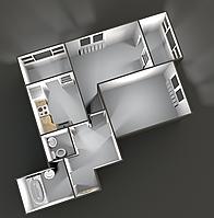 Двухкомнатные квартиры 70 кв.м. 2 этаж__40000