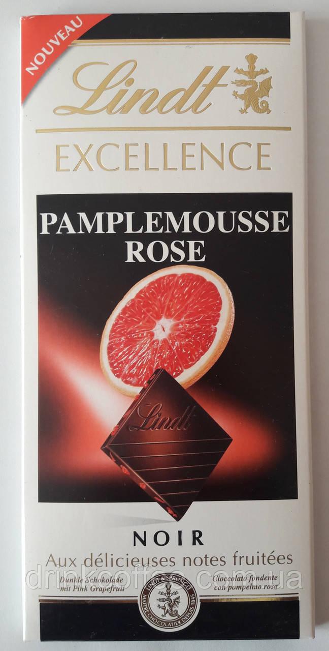 "Шоколад черный Lindt ""Excellence, Pamplemousse rose"", 100 г"