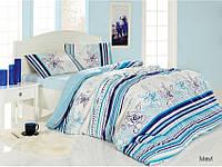 Комплект постельного белья Altinbasak (Турция) ранфорс 1,5Сп. (160х220см) Line Flower 1000227