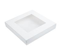 Коробка для тарта 30х30х5 см. (белая с окошком)